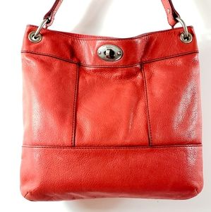 Fossil Talita Hobo Purse Red Leather Style ZB5365